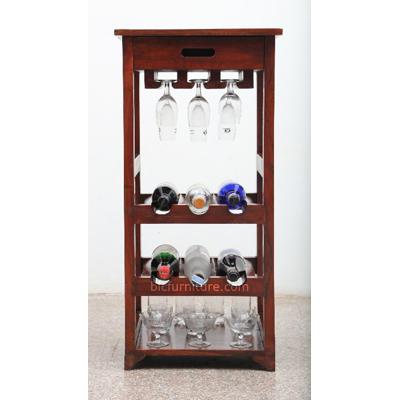 Stylish Modern Open Bar Cabinet, Small Bar Furniture