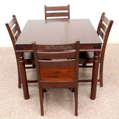 Square 5 Piece Dining Set In Quality Teak Wood Dining Room Furniture
