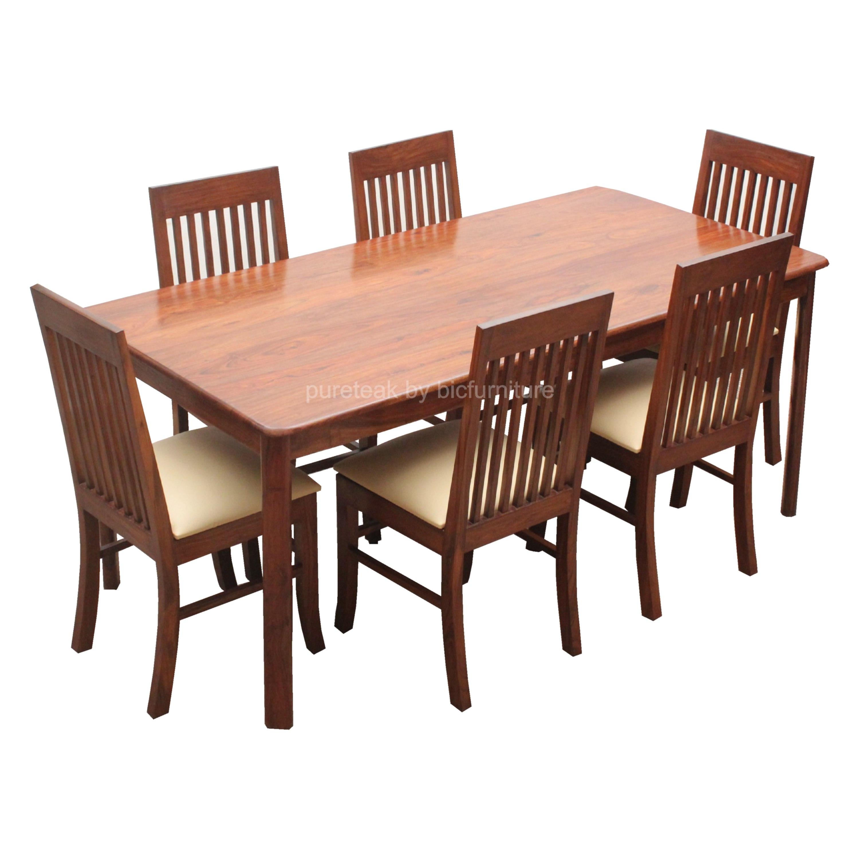 Teak Dining 6 Seater Twd 10 Details Bic Furniture India