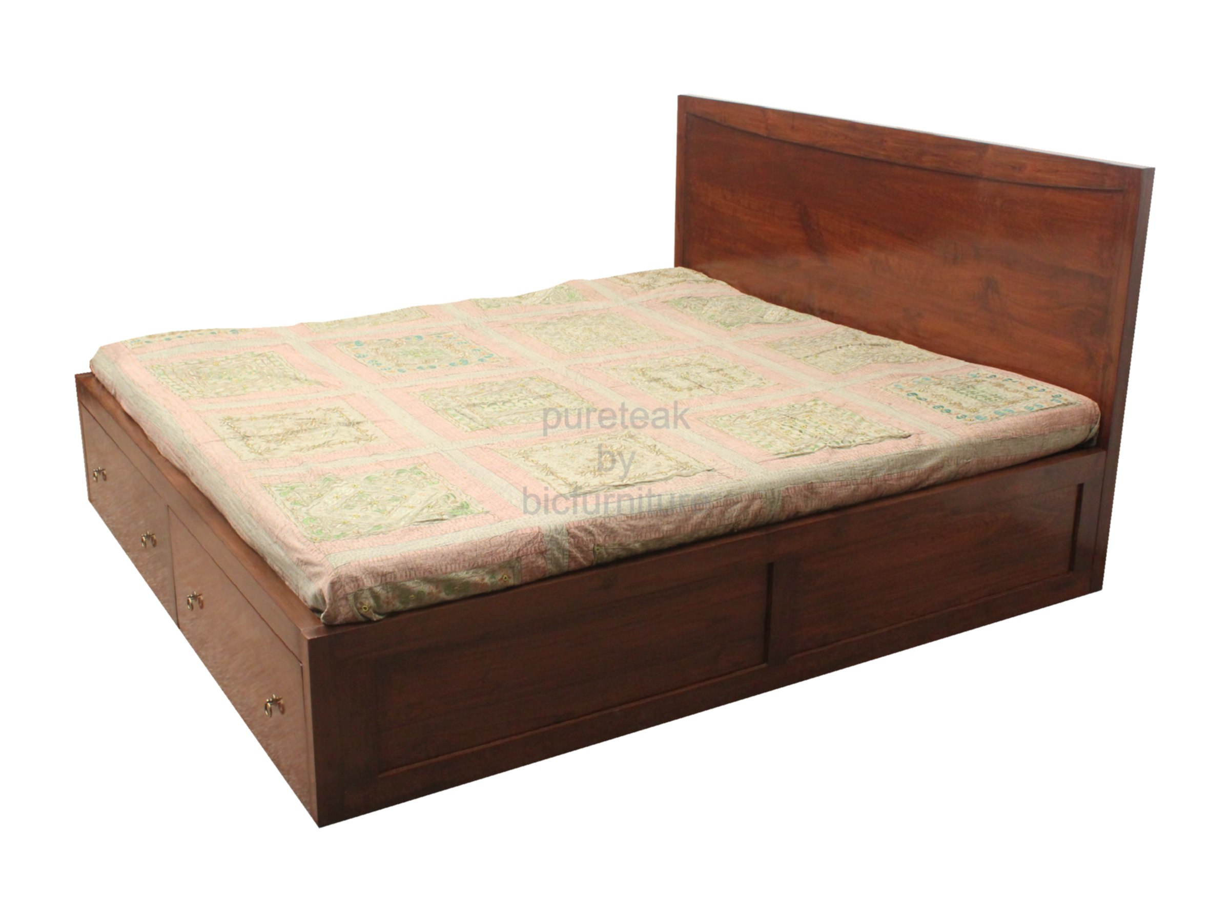 Double Bed In Teak Wood Bed 34 Details Bic Furniture India