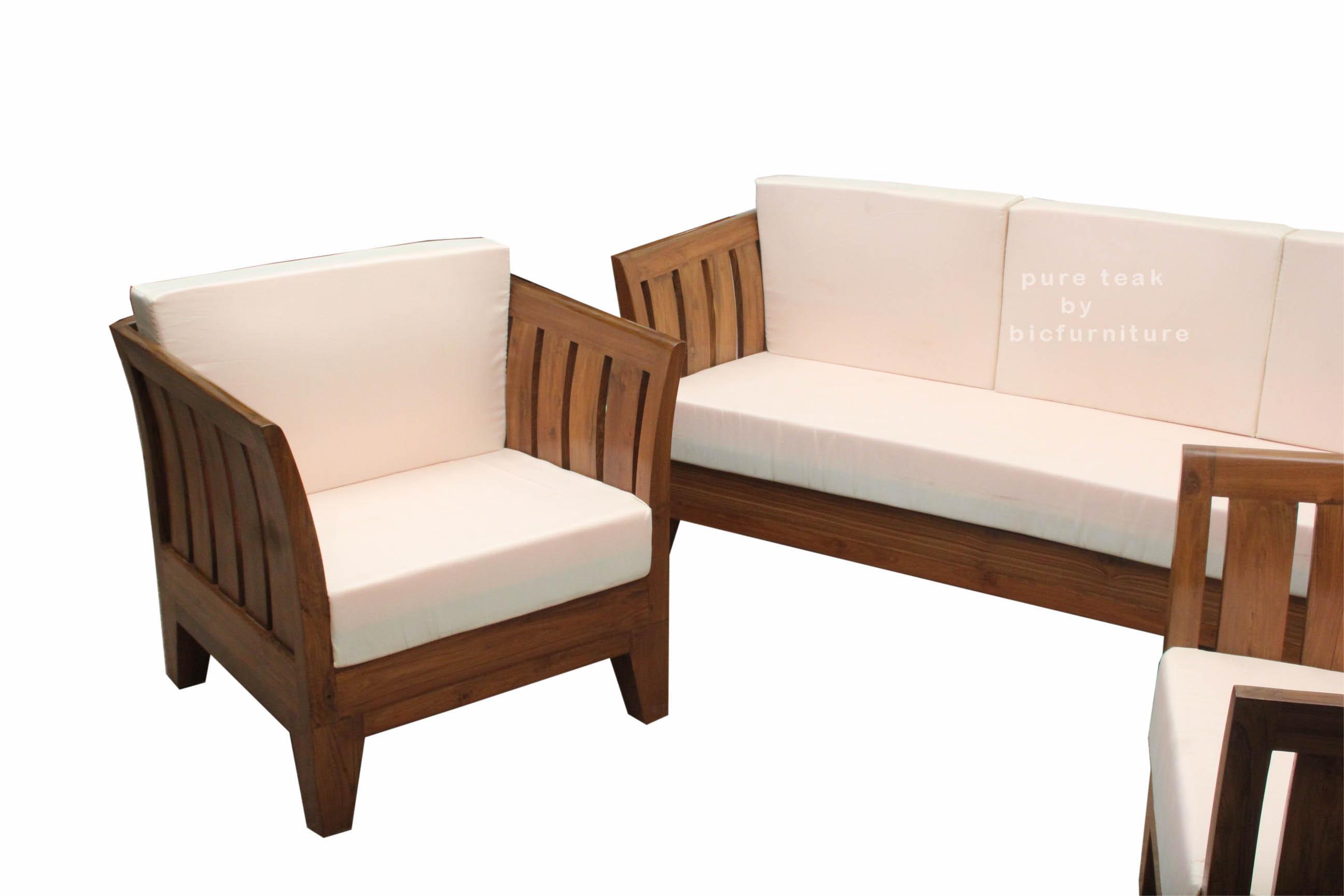 Teak Wood Sofa Set Ws 60 Details Bic Furniture India