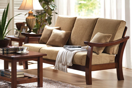 Stylish Wooden Living Room Sofa Design, Wooden Sofa Designs For Living Room