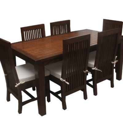6 Seater Teakwood Dining Set Twd 104 Details Bic Furniture India