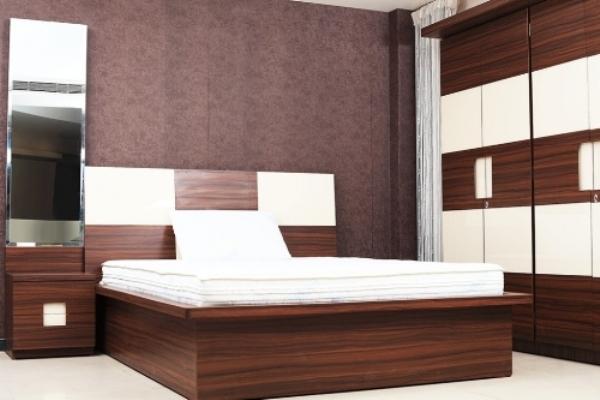 Laminate Bedroom Set In Combination Plywood Furniture In Mumbai